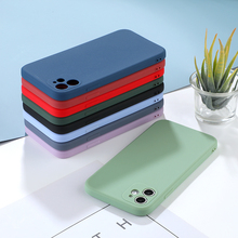 Luxury Straight Edge Phone Cases For iPhone 12 Mini 11 Pro XS MAX X XR 7 8 6S 6 Plus SE 2020 12Pro Candy Color Soft TPU Cover