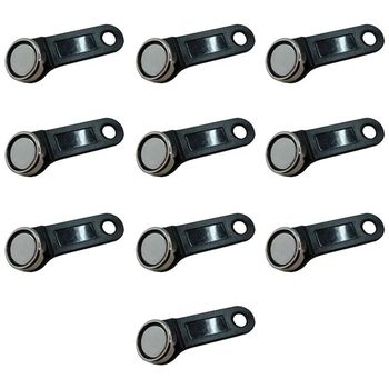 10pcs DS1990A-F5 TM Card IButton Tag With Wall-mounted Black