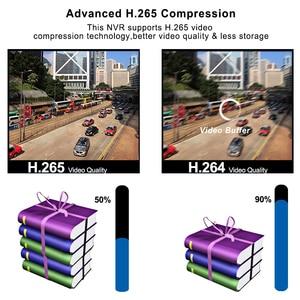 Image 4 - Mini CCTV NVR 4CH 8Ch dla H.264 16CH dla H.265 wideo nagrywarka dvd Onvif dla pełnego aparat IP HD System nadzoru bezpieczeństwa Alarm