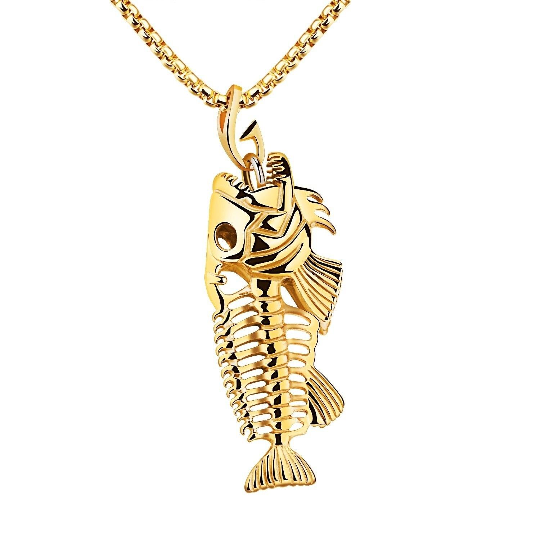 Модное ожерелье с подвеской в виде рыболовного крючка для женщин/мужчин, аксессуары, ювелирные изделия, подарок