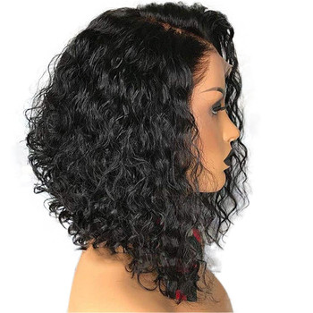 Eseewigs Short Curly Bob 13x4 Lace Front Human Hair Wigs for Black Women Density 150 Brazilian Remy Hair Pre Plucked panda 13x4 kinky curly lace front human hair bob wigs brazilian remy 150% density human hair lace front bob wigs for black women