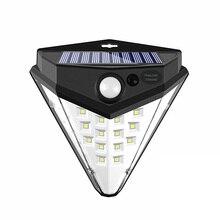 Garden Solar Light Motion Sensor Diamond Shape Powerful Outdoor LED Solar Lamps Waterproof Energy Saving Wall Street Decoration недорого