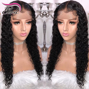 Image 1 - Elva Hair 13x6 Curly Lace Front Human Hair Wigs Pre Plucked Hairline Brazilian Remy Hair Lace Wig With Baby Hair Natural Color