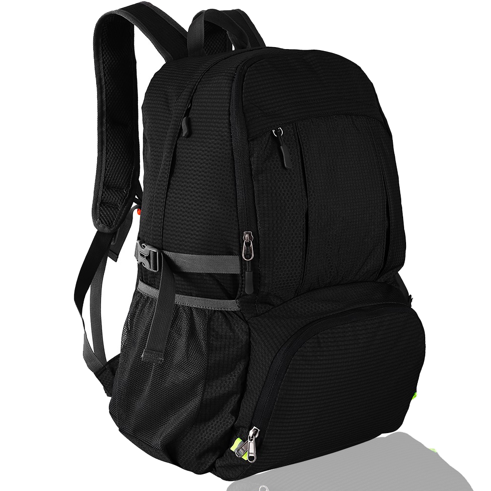 Folding Backpack 40L Lightweight Portable Collapsible Pack Outdoor Waterproof Men Women Bag for Traveling Hiking Camping Climb|Climbing Bags| |  - title=