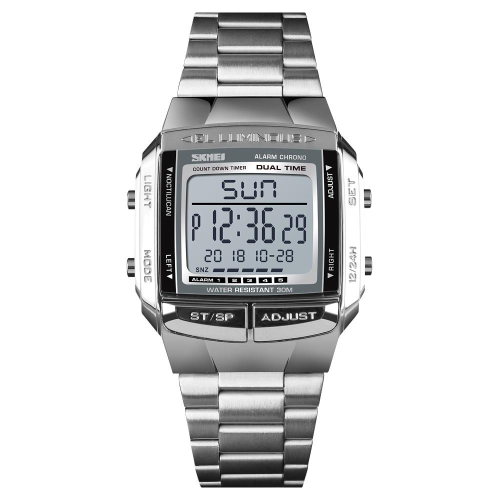 Time Secret Fashion Trend Multifunctional Men's Watch Waterproof Outdoor Sports Clock Business Stainless Steel Digital Watches