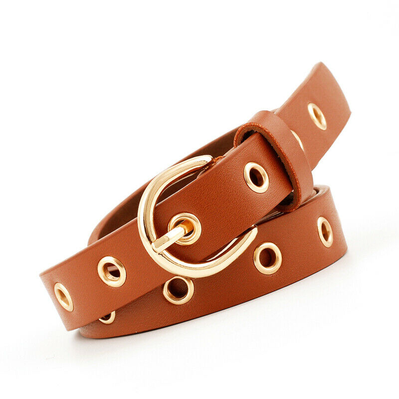 Womens Available Belt Lady Vintage Metal Boho Leather Belts For Female Round Buckle Waist Pu Leather Belt Fashion New 5 Colors