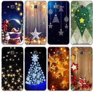 Мягкие силиконовые чехлы для телефонов Samsung Galaxy A3 A5 A7 A8 J1 J3 J4 J5 J6 J7 J8 2015 2016 2017 2018 красивая Рождественская звезда