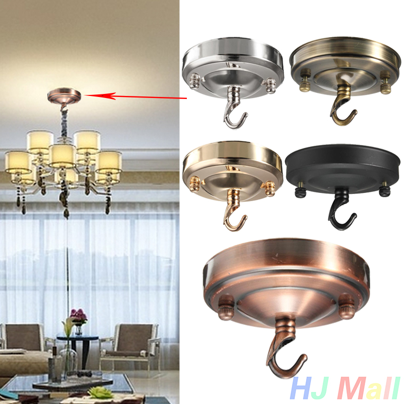 1pcs Retro Ceiling Hook Circular Plate Chandelier Pendant For Home Lamp Light Fitting Light Accessories Hook Plate Light Fitting