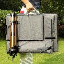حقيبة فنية كبيرة للوحة الرسم مجموعة أدوات رسم رسم حقيبة السفر لرسم أدوات الفنان قماش اللوحة لوازم الفن
