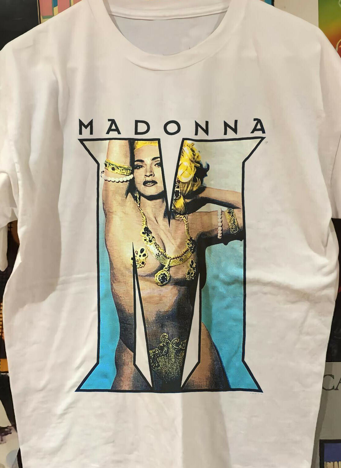 Vintage 90S Madonna Album Tour White T Shirt Unisex All Size M612 image