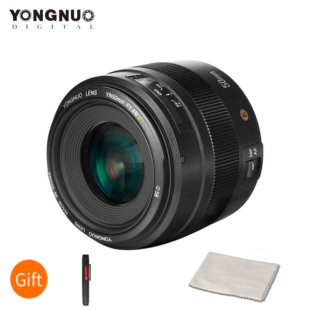 Lente de Foco Automático para Canon 600d para Nikon Yongnuo Lente Principal Padrão Grande Abertura Eos 70d 5d2 5d3 Dslr Yn50mm F1.4