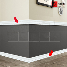 3D Waterproof Border Wall Sticker Top Corner Line Wall Edge Strip Wall Waist Line Stickers Tiles Wallpaper Border