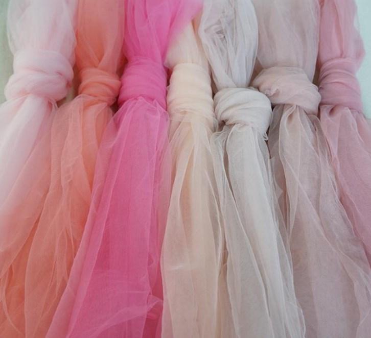 Hermoso Estrella Tul Disfraz BRICOLAJE Ribete 130cm Con cuentas De boda