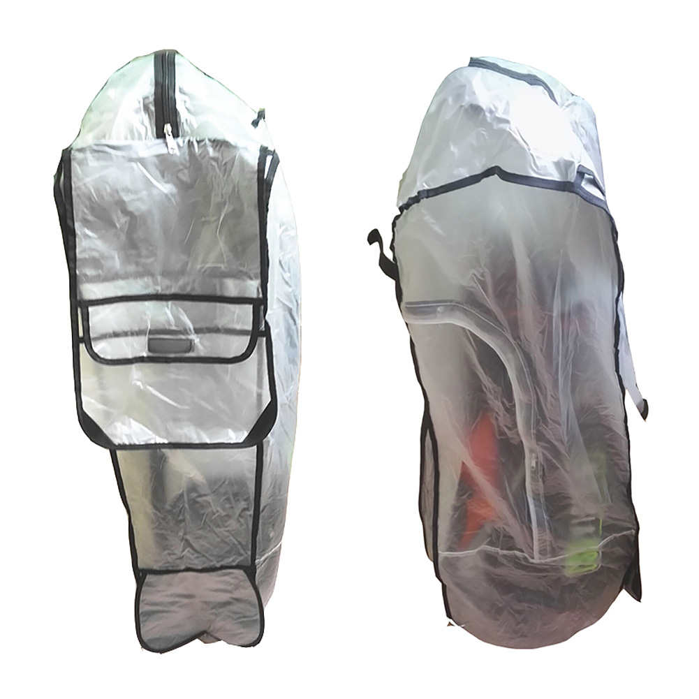 Zippered PVC Transparent Golf Bag Wear Resistant Outdoor Rain Cover Accessories Shield Anti Dust Rod Protector Waterproof