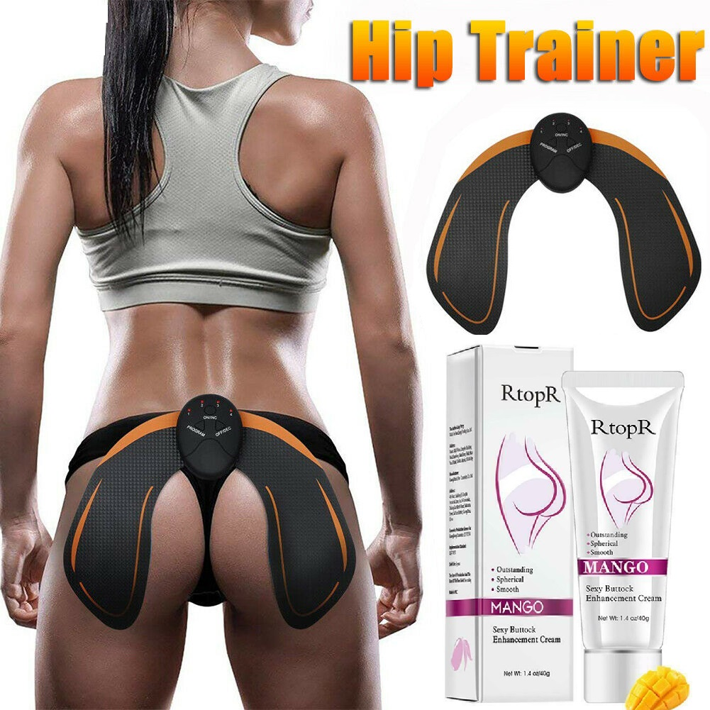 EMS Hip Trainer Buttocks Lifting Up Waist Body Massage Relax Machine Hip Lift Up Butt Enlargement Cellulite Removal Cream Set