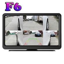 F6 car 360 degree camera 6 split screens display blind spot for family