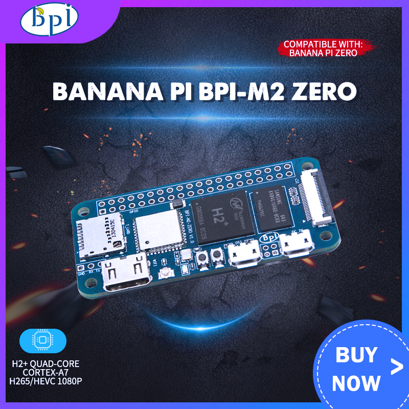 Banana Pi BPI-M2 Zero With WIFI And Bluetooth 1GHz CPU 512MB RAM Linux OS 1080P HD Video Output Free Shipping