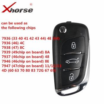 Xhorse XEDS01EN супер удаленный ключ поставляется в Super Chip XEDS01EN беспроводной ключ 10 шт./лот