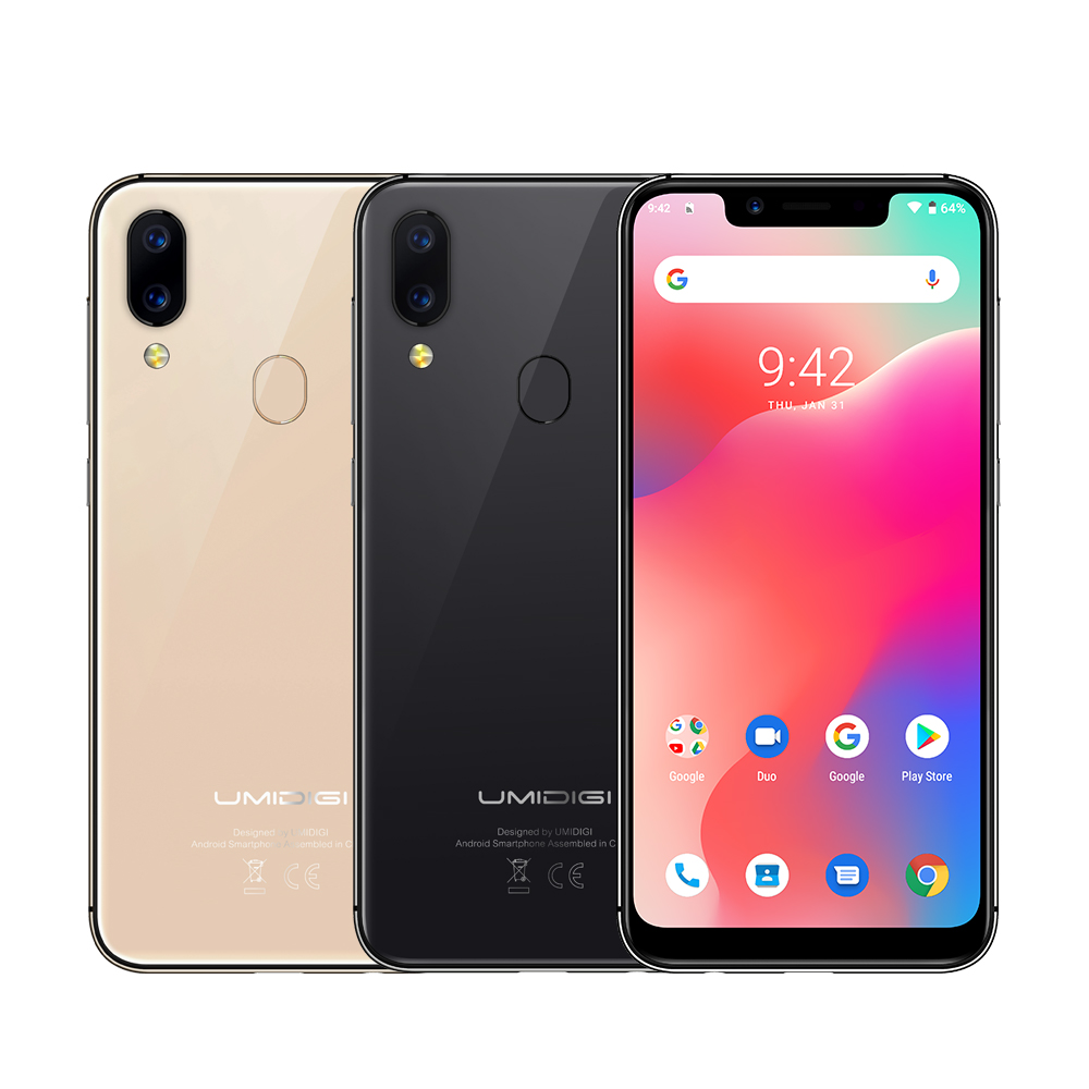 """Refurbished UMIDIGI A3 Pro Global Band Android 8.1 5.7""""19:9 Full Screen Moblie Phone 3GB+16/32GB 12MP+5MP Face Unlock Smartphone 5"""