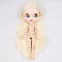 Buzlu fabrika blythe bebek beyaz cilt ortak vücut bjd oyuncak özel bebek mat yüz çıplak bebek 30cm