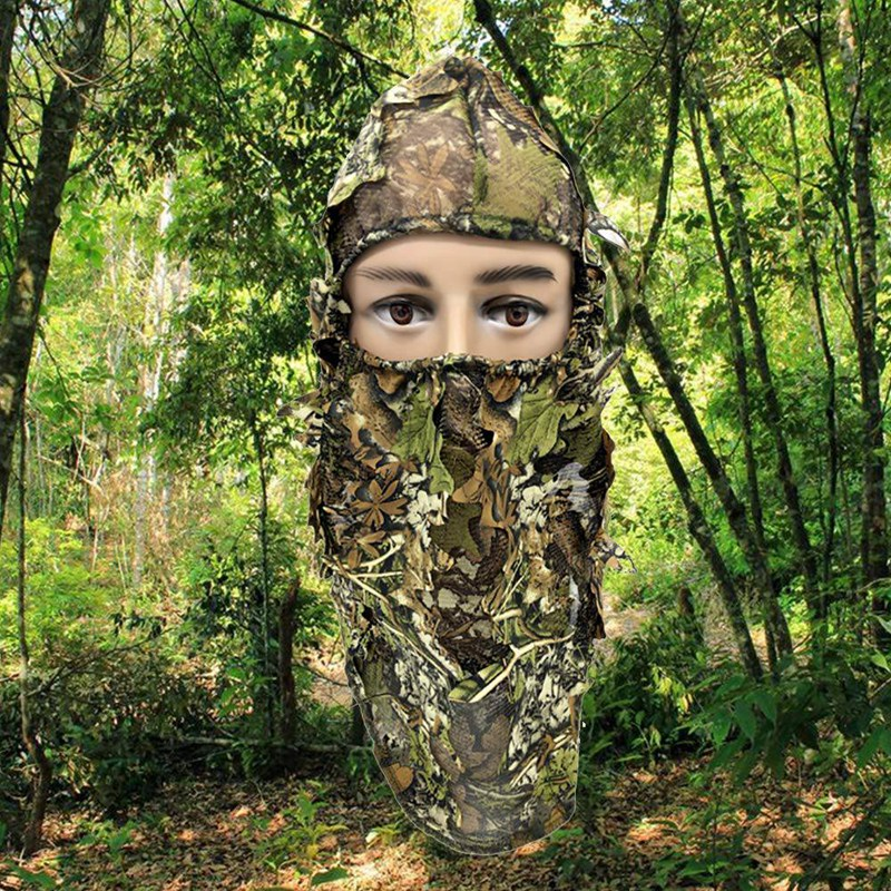 New Camouflage Face Mask Outdoors Light Weight Hunting Face Shield Full Cover 3D Forest Breathable Sunscreen Hot Sale