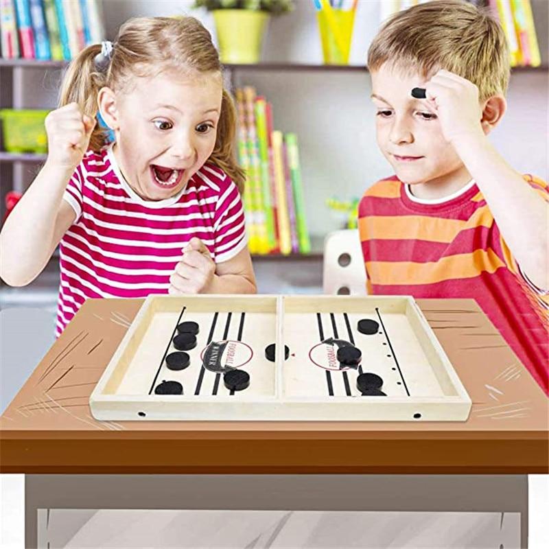 Семейные игры Настольная игра хоккей катапульты шахматы родитель-ребенок интерактивные игрушки фаст-слинг шайбу игры хоккейные игры для детей