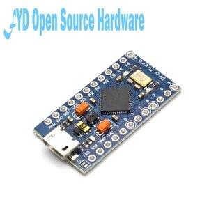 Image 2 - 1 pces pro micro atmega32u4 5v 16mhz substituir atmega328 para arduino pro mini com 2 cabeçalho do pino da fileira para leonardo mini interface usb