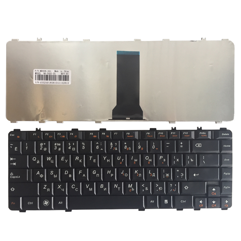 NEW Russian Laptop Keyboard For Lenovo Ideapad Y450 Y450A Y450AW Y450G Y550 Y550A Y550P Y460 Y560 B460 Y550A Black RU Keyboard