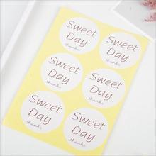 60 шт/лот круглые милые наклейки белые бумажные для скрапбуков