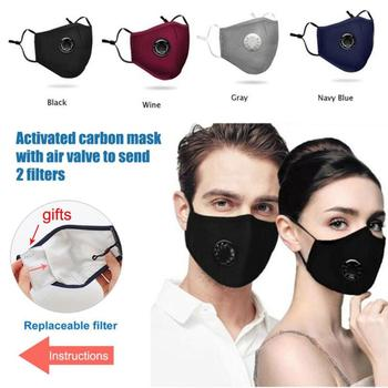 1/3/5/10 Sets  Reusable Face Masks Mouth Masks Breath Valve Activated Carbon Filter With Filter mascarillas 20%