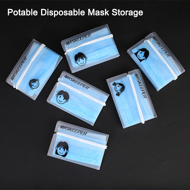 Portable Face Masks Case Keeper Organizer Storage Box Container Safe Dustproof Pollution-Free Moisture-Proof Clean Box