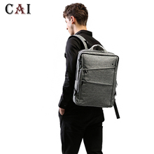 Fashion Style Business Travel Men Waterproof 14 15 inch Laptop Backpack 2019 New Metal Hand High Quality Male Softback bookbag