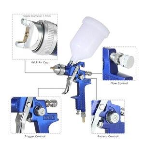 Image 4 - Nasedal Hvlp Luchtspuitpistool Paint Spuit 1.4Mm/1.7Mm 600Ml Gravity Feed Airbrush Kit Auto Meubels schilderen Spuiten Tool