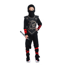Jungen Ninja Kostüm Cosplay Kleinkind Kinder Karneval Geburtstag Party Ninjago Cosplay Kleid Up Kinder Krieger Uniform(China)