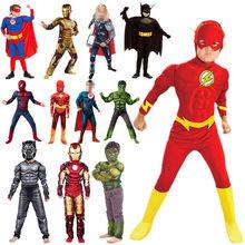 Disfraz de Los Vengadores para niños, traje de superhéroe con músculos para cosplay, Halloween o regalo de Navidad