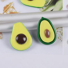 5 Pcs/Lot Resin Avocado Slime Charms Toy For Children Summer Pretend Play Charms Modeling Clay DIY Accessory For Kids(China)
