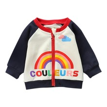 купить Jackets For Girls Autumn Children Cartoon Cotton Jacket Coat For Boys Long Sleeve Kids Jacket Baby Clothes Outfit Overcoat дешево