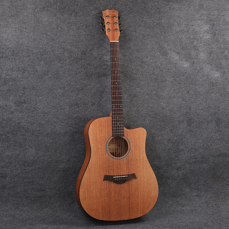 OEM 41-Inch Folk Music Wood Guitar Fully Peach Blossom Core Wood Cutaway Guitar BOY'S And GIRL'S Beginners Guitar