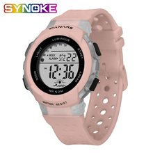 SYNOKE Colorful Student Watch Boy Watches Children Digital 50M Waterproof xfcs Sports Outdoor Hollow Silicone Strap 2019