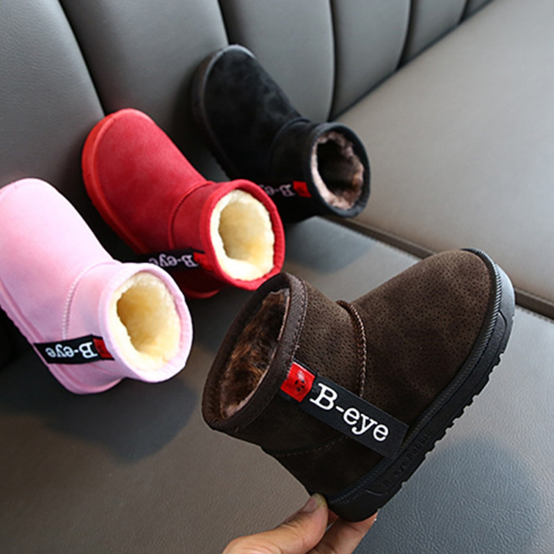 Baby Girl Boy Snow Boots Winter Half Boots Warm Zapatos Bebes Newborn Baby Soft Bottom Lace Up Classic Tie Up Boot 2-10 Years