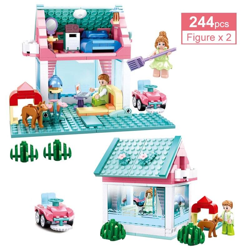 244 для девочек из двух предметов из свадебной серии уютные домашние комплекты строительные блоки Романтический хижина для» «Prince» и «Princess» ...
