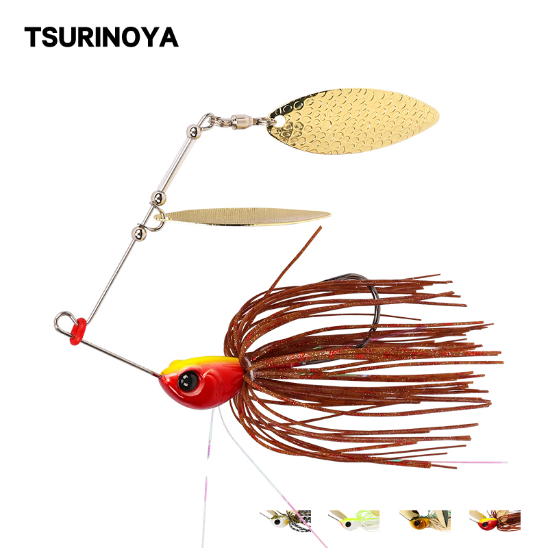 20g buzzbait spinnerbaits spoon lead head jig  Rotating sequins fishing lures