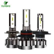 TUYOFO A10 2 шт. H4 светодиодный лампы H7 H11 H8 9006 HB4 9005 HB3 авто фары 90 Вт 18000LM высокое ближнего и дальнего света лампы автомобильные лампы 6000K