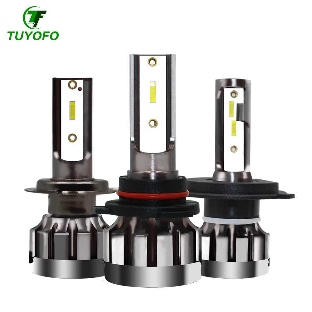 TUYOFO A10 2Pcs <font><b>H4</b></font> <font><b>LED</b></font> <font><b>Bulb</b></font> H7 H11 H8 9006 HB4 9005 HB3 Auto <font><b>Car</b></font> Headlight 90W 18000LM High Low Beam <font><b>Bulbs</b></font> Automobile Lamp 6000K image