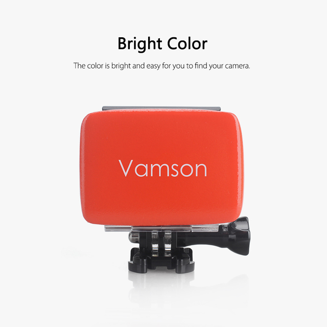 Vamson pour GoPro Hero 7 6 5 flotteur Floaty boîte avec adhésif Anti évier autocollant pour Go Pro accessoires pour Xiaomi yi MIJIA VP602