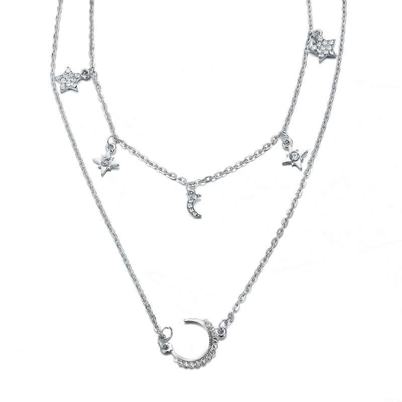 Colar com pingente de casamento boho, colar feminino com corrente longa, gargantilha multicamadas, colar de moedas arredondada, joias de casamento 2019