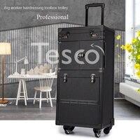 Hairdressing toolbox luggage case retro hair stylist dedicated large capacity scissors bag