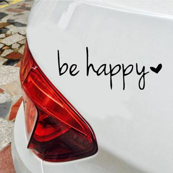 15X6cm Be Happy Letters Reflective Car Vehicle Body Window Decals Sticker Decoration 1