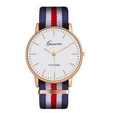 Top Brand Watches Relojes Mujer Luxury men women unisex Geneva Platimum Nylon Wrist Watch Quartz Watch Mens Hours Clock Relogio