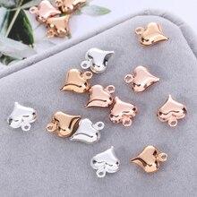 цена на bedeltjes voor sieraden makenAccessories Metal Bulk Heart-Shaped Accessories Bronze Peach Heart Necklace Bracelet Diy Manufactur